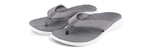 SOLE Women's Catalina Sport Flip, Grey/White, W 8
