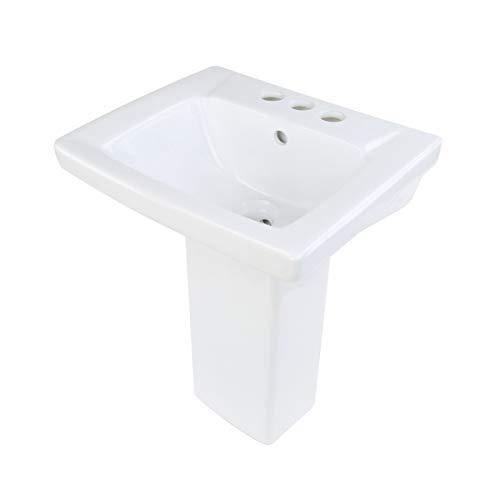 Children's White Pedestal Sink Vitreous China