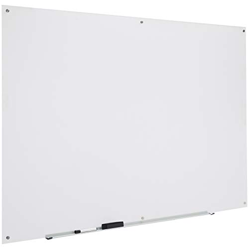 AmazonBasics Glass Dry-Erase Board - Frosted, Non-Magnetic, 6' x 4' ()