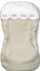 Bimbi Class–Teppich Oval, 49x 103cm, weiß und Leinen