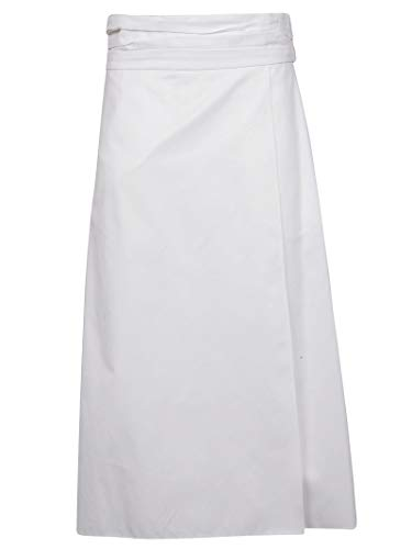 - Jil Sander Navy Women's Jnwm3501ajm2434100 White Cotton Skirt