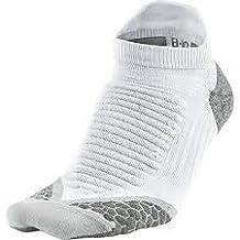Nike Elite Running Cushion No-Show Tab Socks White/Wolf Grey/Wolf Grey