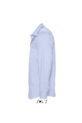 SOL´S - Herren Stretch-Langarmhemd Brighton XL,Bright Sky