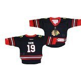 Image Unavailable. Image not available for. Color  Chicago Blackhawks Black  Infant Toddler Jonathan Toews  19 Replica Jersey NHL ... 6a83ae010