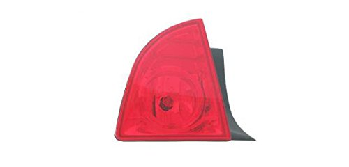08 Light Outer Tail (Taillight Taillamp Outer Rear Brake Light Driver Side Left LH for 08-12 Malibu)