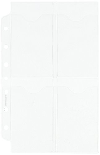 Loose Leaf Planners (Day-Timer Business Card Holders for Looseleaf Planners, 5 1/2 x 8 1/2, 5/Pack)
