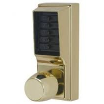 Simplex 1011-03-41 Cylindrical Lock, Combination Entry Only, No Key Override Bright Brass by Kaba Ilco