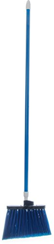 Carlisle 4108214 Sparta Duo-Sweep Flagged Angle Broom with Fiberglass Handle, 54'' Length, Blue (Pack of 12) by Carlisle