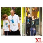 Lovely The Smurfs Style 100% Cotton Lover's Long-Sleeve T-Shirt for Man(1-Pack)-Color Assorted/Size XL