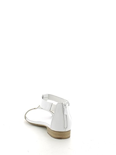 Sandalo basso bianco con t-bar e zip N. 38