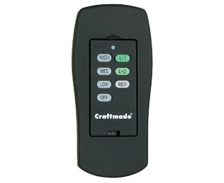 Craftmade MI-ICS-PT, Wall Control with Clamshell Remote, 3 Fan Speeds and Reverse, Pewter by Craftmade