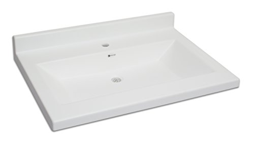 ARSTAR Vanity Top Carolina 22x31 inches, Color  Solid White Matte