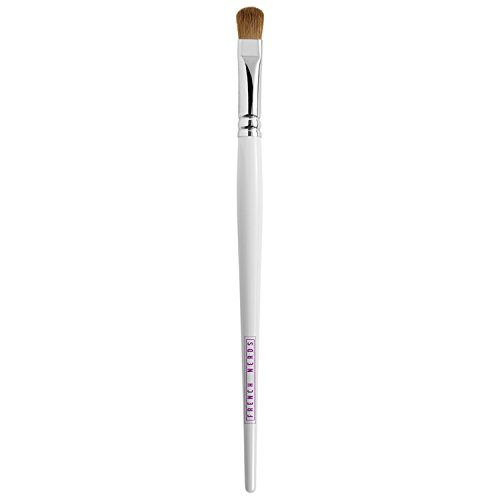 Eyeshadow Makeup Brush - Oval Rounded Bristle Head to Apply Eye Shadow Make Up - Soft Goat Hair Bristle with Wooden Handle - French - Square Face To Shape V