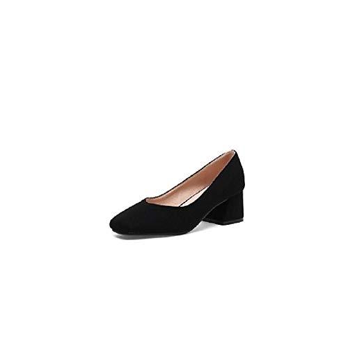 Beige Green Women's Spring Heel Comfort Pink Shoes Heels Suede ZHZNVX Chunky Summer Pink amp; P6qvvwZ