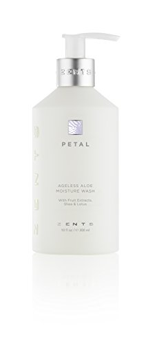 Zents Ageless Aloe Moisture Body and Hand Wash, Petal, With Fruit Extracts, Shea Butter & Lotus Flower, 10 fl oz / 300 millileters (Petal Zents)