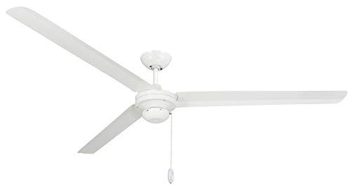 """TroposAir 72"""" Tornado Pure White Industrial Ceiling Fan Dan's Fan City"""