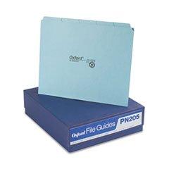 Pendaflex PN205 Top Tab File Guides, Blank, 1/5 Tab, 25 Point Pressboard, Letter, 100/Box