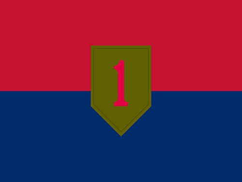Cheap magFlags Small Flag United States Army 1st Infantry Division | landscape flag | 0.7m² | 7.5sqft | 70x95cm | 30x40inch – 100% Made in Germany – long lasting outdoor flag