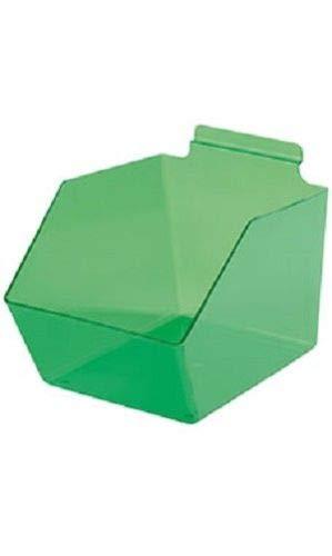"Buy All Store Dump Bins for Slatwall Green Set of 10 Plastic Slat Wall Display 6"" x 11 ½"" x 5 -  buyallstore"