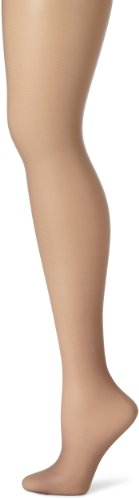 Hanes Women's Control Top Sheer Toe Silk Reflections Panty Hose, Quick Silver, E/F