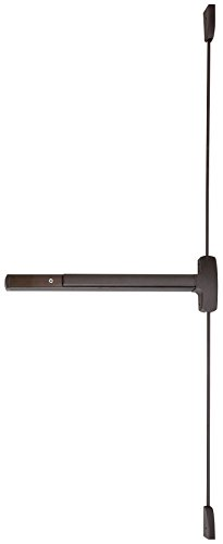 Falcon 25-V-EO 313AN Series Grade 1 Wide Stile Touch Bar Exit Device, Surface Vertical Rod Device, Exit Only Trim, Hex Key Dogging, Duranodic Dark Bronze Finish by Falcon