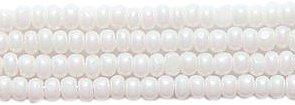 - Preciosa Ornela Czech Seed Bead, True Cut White Aurora Borealis Finish, Size 11/0