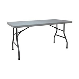 Industrial Grade 12F624 Table, Rectangular, 5 Ft, Blow Molded, Gray by Industrial Grade