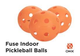 Onix Fuse Indoor Orange Pickleballs (12 Pack)