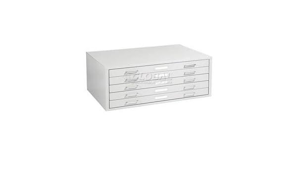 Mayline C Files 5 Drawer Flat Files Metal Cabinet   White
