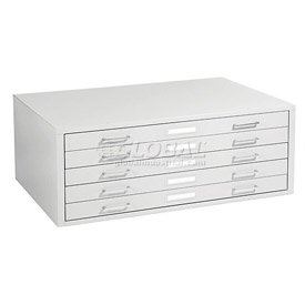 Mayline C Files 5 Drawer Flat Files Metal Cabinet   White