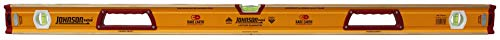 Johnson Level 1718-4800 48-Inch Magnetic Glo-View Aluminum Box Beam Level, Yellow