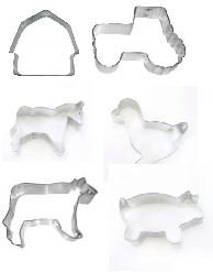 Farm Animal and Barn Set Cookie Cutters ()