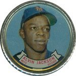 1964 Topps Metal Coins (Baseball) Card# 17 larry jackson of the Chicago Cubs Ex Condition