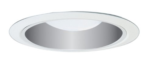 Juno Lighting 29C-WH 6-Inch Fully Enclosed Ultra-Trim Clear Finish Cone, White (Fully Enclosed Trim)