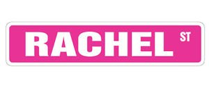 RACHEL Street Sticker Sign kids room childrens name gift kid child boy girl wall entry