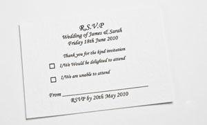 Wedding RSVP Cards x50 A7 Amazoncouk Kitchen Home