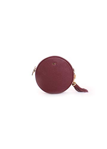 michael kors maroon crossbody | Michael Kors Pebbled Leather Canteen Crossbody in Oxblood