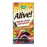 Alive (No Iron) Whole Food Energizer Multi-Vitamin Tablets – 30 Ea For Sale