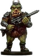 Star Wars Miniatures: Gamorrean Thug # 33 - Bounty Hunters