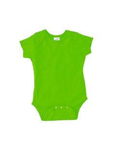 Rabbit Skins Infants'5 oz. Baby Rib Lap Shoulder Bodysuit NB Key Lime