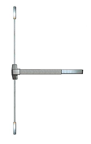 Trans Atlantic ED-VR531-AL Panic Exit Device with a Vertical Surface Rod, Aluminum