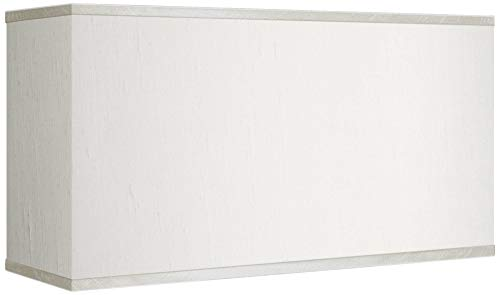 Cream Faux Silk Rectangular Shade 8/17x8/17x10 (Spider) - Possini Euro Design