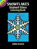 Dover Stained Glass Coloring Book Snowflakes by (Glass Snowflake Coloring Book)