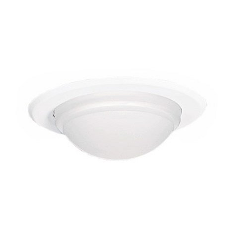 Halo 5054PS 5-Inch Shower Light Trim with Drop Glass Lens, White