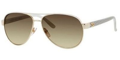 Gucci Sunglasses - 4239 / Frame: Ivory Lens: Brown - Gucci Womens Aviators