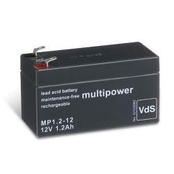 MULTIPOWER MP1.2-12 BLEIAKKU BLEI GEL AKKU BATTERIE 12V / 1.2Ah
