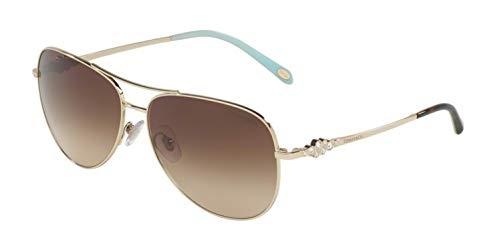 Tiffany & Co. Women TF3052B 59 Gold/Brown Sunglasses 59mm
