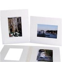 Archival Methods Pre-Cut Exhibition Mats Board, One 13x19'' on 20x24'' Board, 4 Ply, Bright White, Package of 5 by Archival Methods