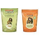 17 Biscuit - Carna4 Nutritional Sprouted Seeds Dog Biscuits Variety Pack - 16-18 Ounces - Flora4 Seeds Topper and Grain-Free Biscuits (2 Pack)