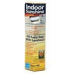 Indoor Sunshine: Single 15-watt Spiral Bulb
